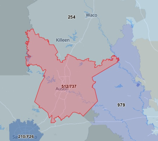 512-Area-Code-Map