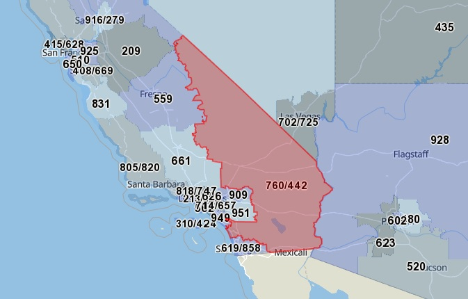 760 Area Code